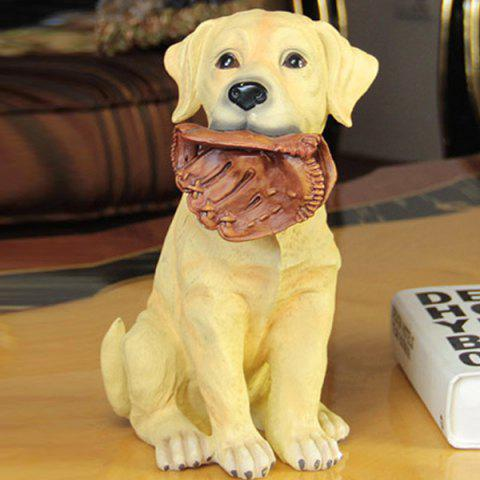 New Artistic Resin Craft Labrador Dog Figurine Home Decoration