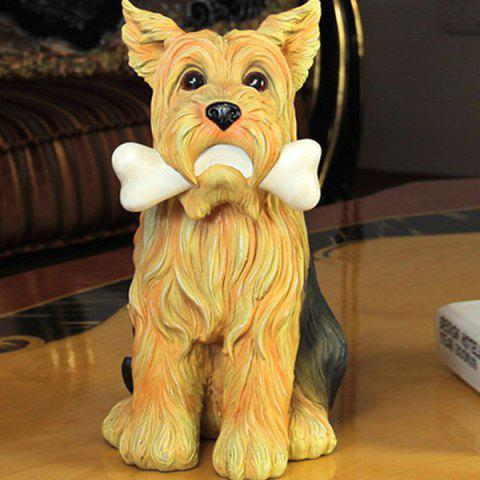 Shop Artificial Resin Dog Figurine Craft Home Decoration