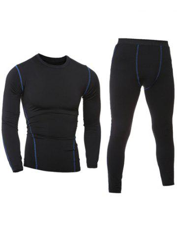 Manches longues Quick-Dry T-Shirt + Pantalon Skinny Gym Twinset