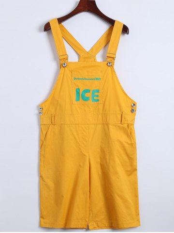 Latest Casual Letter Print Pocket Overalls
