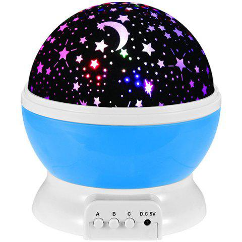 Fancy Mew Starry Sky Babysbreath Autorotation LED Night Light - BLUE  Mobile