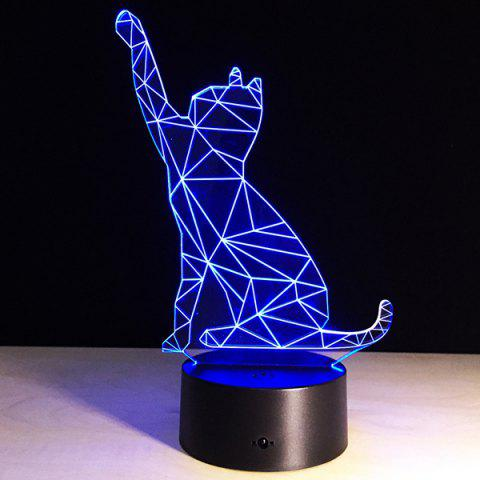Discount Beckon Cat Shape Touch Colorful Night Light - TRANSPARENT  Mobile