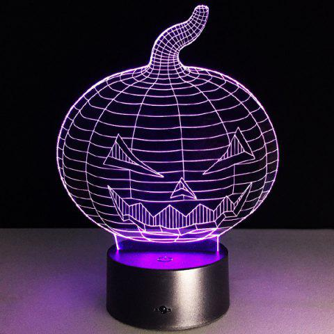 New 3D Halloween Pumpkin Shape Touch Colorful Night Light - TRANSPARENT  Mobile