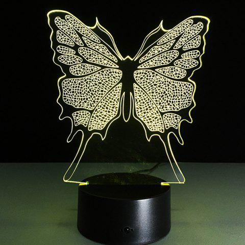 Trendy 3D Festival Butterfly Shape Touch Colorful Night Light - TRANSPARENT  Mobile