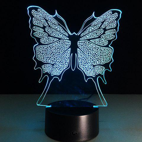 Fancy 3D Festival Butterfly Shape Touch Colorful Night Light - TRANSPARENT  Mobile