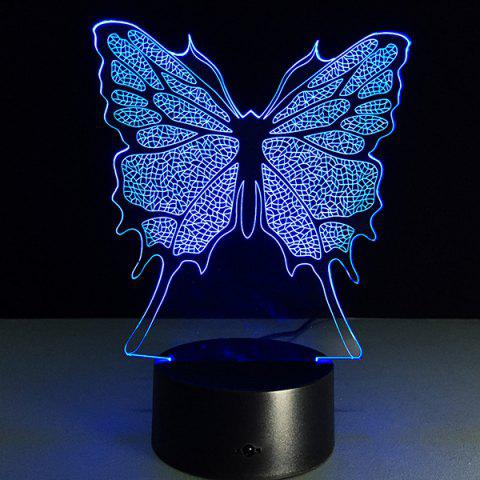 Latest 3D Festival Butterfly Shape Touch Colorful Night Light - TRANSPARENT  Mobile
