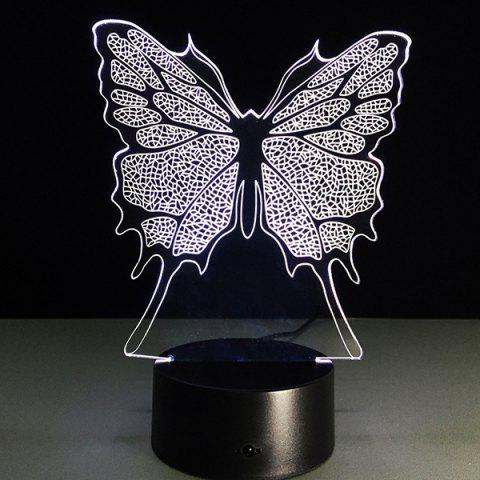 Buy 3D Festival Butterfly Shape Touch Colorful Night Light - TRANSPARENT  Mobile