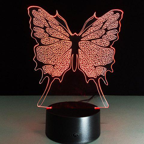 Affordable 3D Festival Butterfly Shape Touch Colorful Night Light - TRANSPARENT  Mobile
