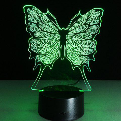 Chic 3D Festival Butterfly Shape Touch Colorful Night Light - TRANSPARENT  Mobile