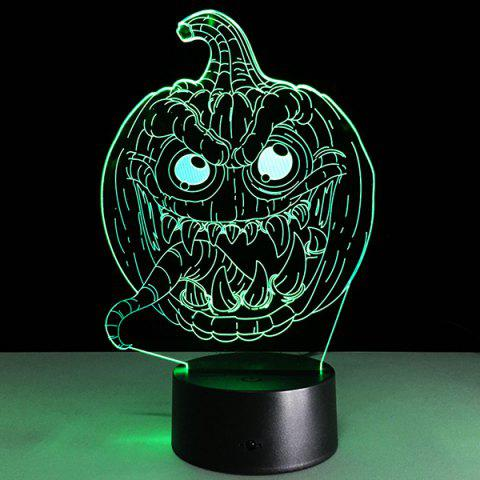 Affordable 3D Halloween Funny Pumpkin Shape Touch Colorful Night Light TRANSPARENT