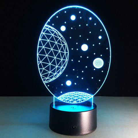 New 3D Christmas Galaxy Shape Touch Colorful Night Light - TRANSPARENT  Mobile