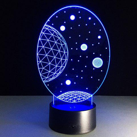 Latest 3D Christmas Galaxy Shape Touch Colorful Night Light - TRANSPARENT  Mobile