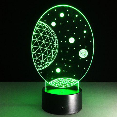 Buy 3D Christmas Galaxy Shape Touch Colorful Night Light - TRANSPARENT  Mobile
