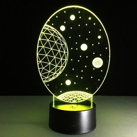 Chic 3D Christmas Galaxy Shape Touch Colorful Night Light - TRANSPARENT  Mobile