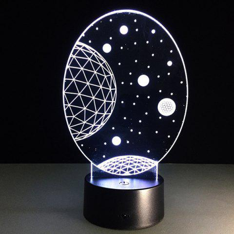Outfits 3D Christmas Galaxy Shape Touch Colorful Night Light - TRANSPARENT  Mobile