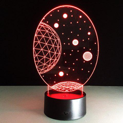 Outfit 3D Christmas Galaxy Shape Touch Colorful Night Light - TRANSPARENT  Mobile