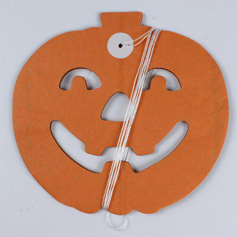 Online Halloween Supply Party Decoration Pumpkin Paper Cutting Prop - BLACK AND ORANGE  Mobile