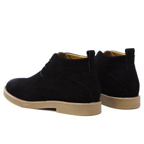 Fancy Lace Up Pointed Toe Casual Shoes - 43 BLACK Mobile