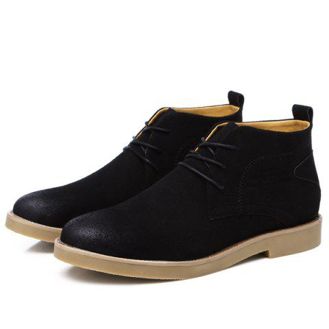 Affordable Lace Up Pointed Toe Casual Shoes - 43 BLACK Mobile