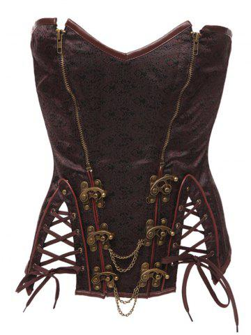 Latest Steampunk Lace Up Steel Boned Corset