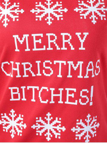 Best Merry Christmas Bitches Graphic Sweatshirt - XL RED Mobile