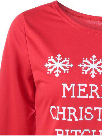 Buy Merry Christmas Bitches Graphic Sweatshirt - XL RED Mobile