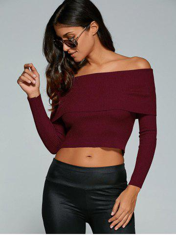 Discount Fitted Off The Shoulder Jumper -   Mobile