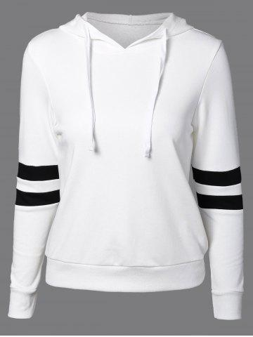Unique Long Sleeve Sports Color Block Hoodie WHITE 2XL