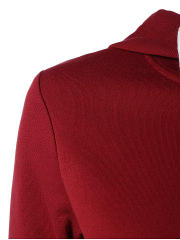 Hot Long Sleeve Sports Color Block Hoodie - M RED Mobile