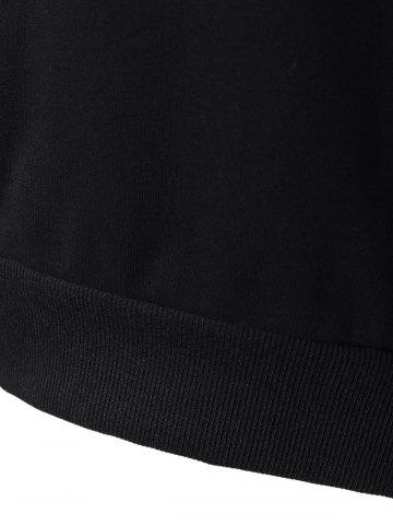 Outfit Long Sleeve Sports Color Block Hoodie - M BLACK Mobile