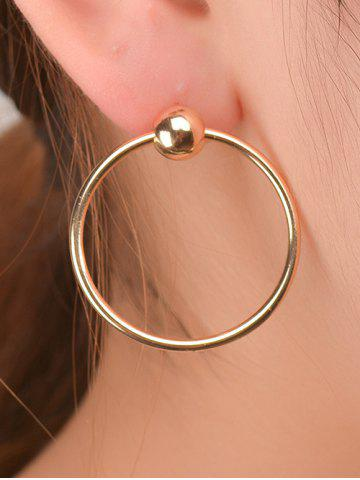 Store Bead Round Circle Earrings GOLDEN