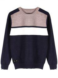 Ribbed Hem Long Sleeve Crew Neck Sweater