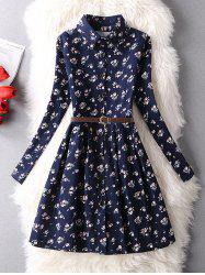 Tiny Floral Vintage Shirt Dress -