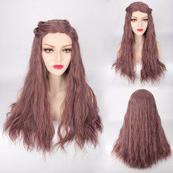 Long Fluffy Middle Part Slightly Curled Lolita Cosplay Synthetic Wig -