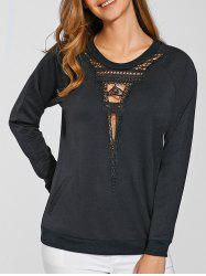 Tower Pattern Hollow Out Sweatshirt