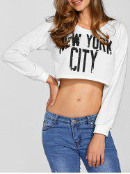 New York City Printed Cropped Sweatshirt -