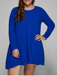 Long Sleeve Plus Size Mini Shift Dress