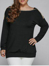 Plus Size Top Long Sleeve Blouse -