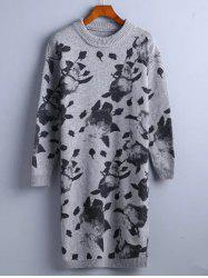 Chinese Painting Pattern Sweater Dress