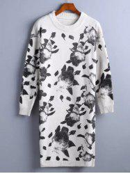 Chinese Painting Pattern Sweater Dress -