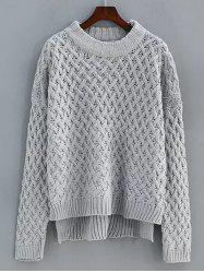 Cable Knit High Low Sweater -