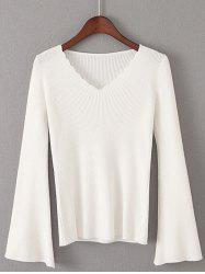 Flare Sleeve Pullover Sweater -