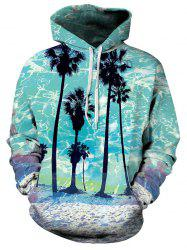 Front Pocket Beach Palm Hoodie -