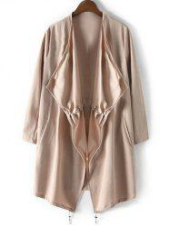 Drawstring Relaxed Trench Coat -