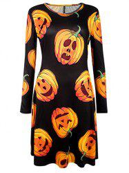 Halloween Pumpkin Printed Dress -