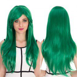 Long Side Bang Natural Straight Cosplay Synthetic Wig
