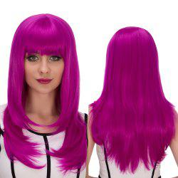 Long Full Bang Layered Tail Adduction Cosplay Synthetic Wig