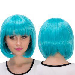Stunning Synthetic Cosplay Short Full Bang Bob Haircut Wig