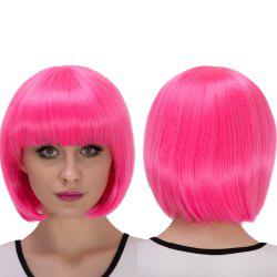 Synthetic Cosplay Stunning Short Full Bang Bob Haircut Wig