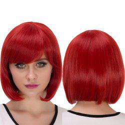 Synthetic Cosplay Stunning Short Side Bang Bob Haircut Wig